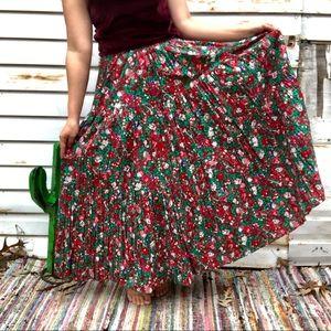 Vintage Festive Christmas Skirt